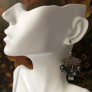 Vintage Freshwater Pearl Beaded Earrings
